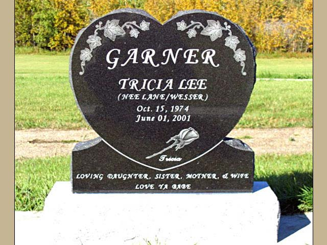 Legacy Monuments  Heart Shaped Memorial Headstone Gallery