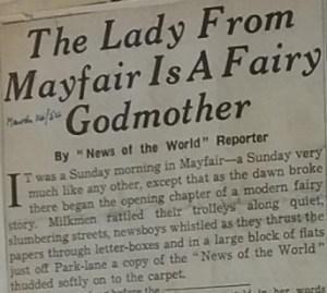 Press cutting form News of the World 1954