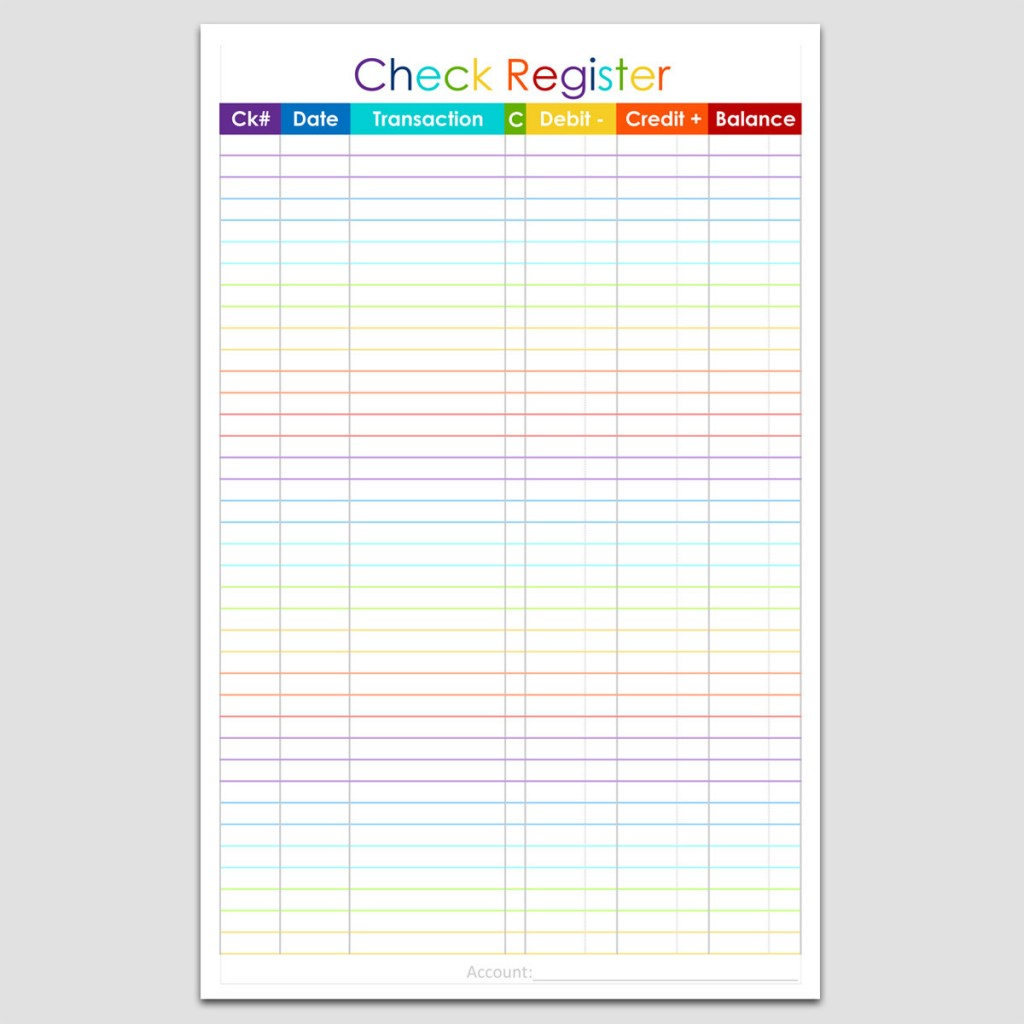 Impertinent Printable Checkbook Balance Sheet
