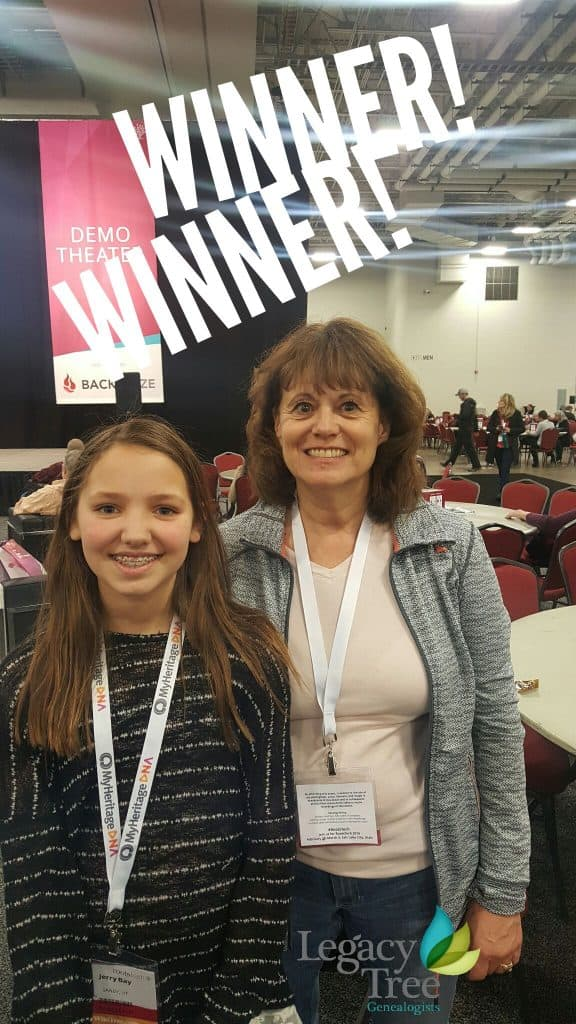 RootsTech 2017 genealogy conference genealogy giveaway winner