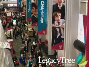 RootsTech 2017 genealogy conference hallway