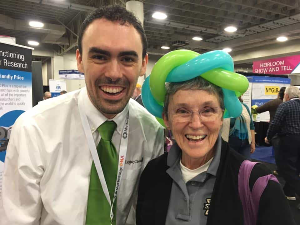 RootsTech 2017 genealogy conference balloon DNA crowns from Legacy Tree Genealogists
