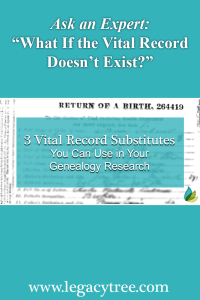vital record substitutes for genealogy research