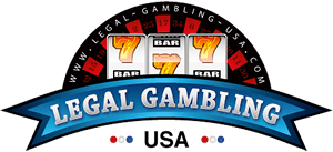 "Graphic of a slot machine with the words, ""LEGAL GAMBLING USA"" displayedin front of it"