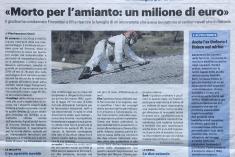 Rfi – Morto per l'amianto: un milione di euro