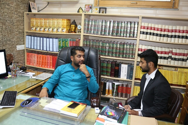 Advocate Jasmeet Singh with Lakshay Anand