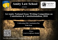 1st National Essay Writing Competition on Constitution And Constitutionalism 2018