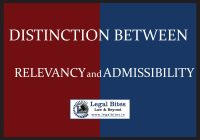 Distinction between Relevancy and Admissibility