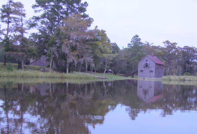 Civil War-era rice barn on Pee Dee River near  Waccamaw NWR, SC