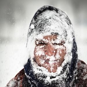 Man In Snow Storm