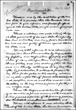 Lincoln proclamation