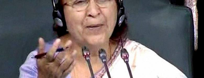 Godse' no longer an unparliamentary word - Sumitra Mahajan