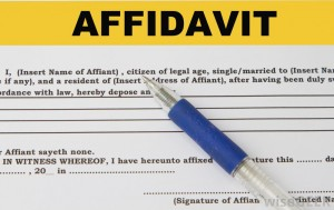 Format of Affidavit for Written Statement