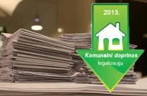 smanjenje komunalnog doprinosa za legalizaciju objekata