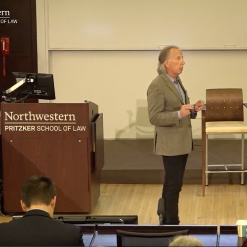 "Mark kicks off Northwestern Law's ""Beyond Our Borders"""