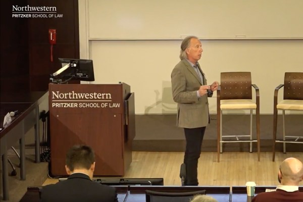 "Mark kicks off Northwestern Law's ""Beyond Our Borders"""