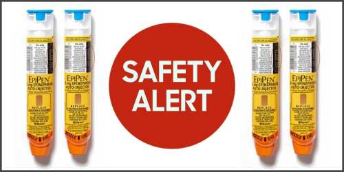 small resolution of image of four epipens with safety alert written on a red