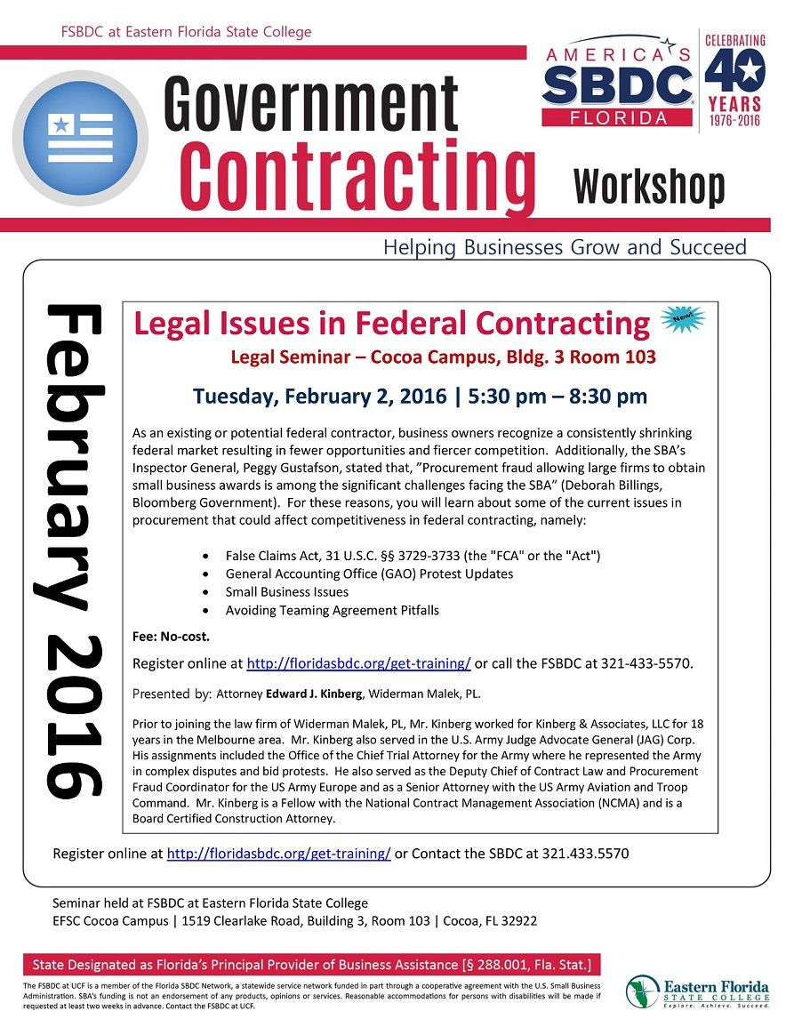 government contracting workshop