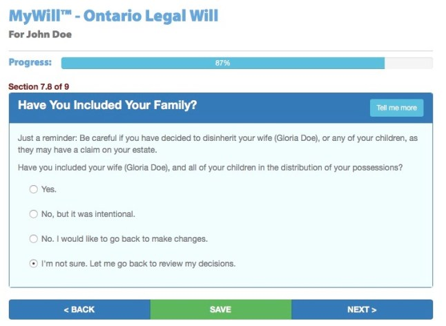 Write a Will in Canada