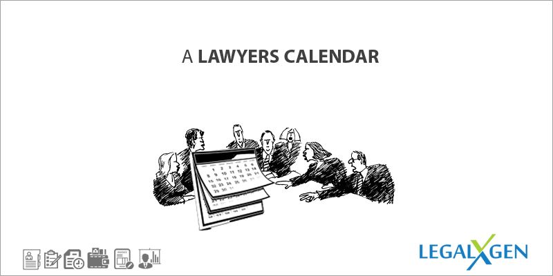 A Lawyers Calender