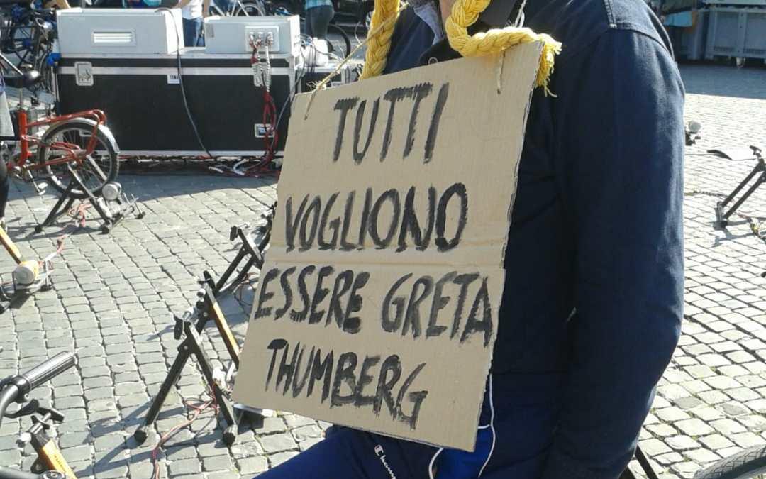 19 aprile 2019 Fridays for Future a Roma: ospite d'onore Greta Thumberg