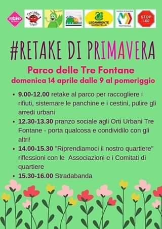 Retake di primavera al Parco Tre Fontane