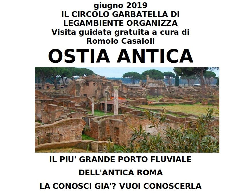 Domenica 9 giugno visita guidata a Ostia Antica
