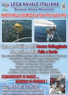 LNI Santa Marinella - ancora gallegiante, falla a bordo