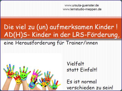 ADHS-Kinder, Legasthenie, LRS, Förderung, Fachtagung, EÖDL