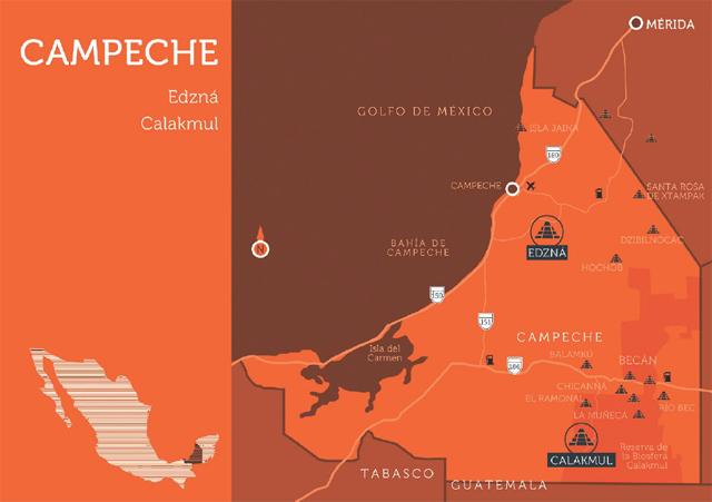 mapa campeche méxico