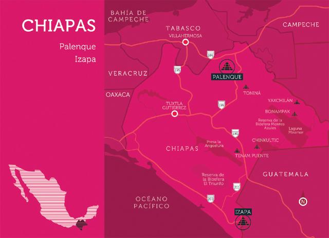 mapa chiapas, méxico