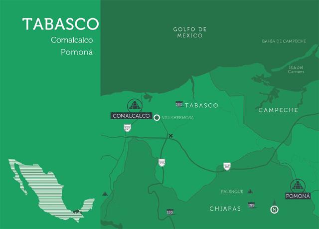 Mapa Tabasco, México