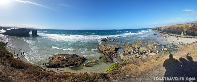 panoramica playa catedrales