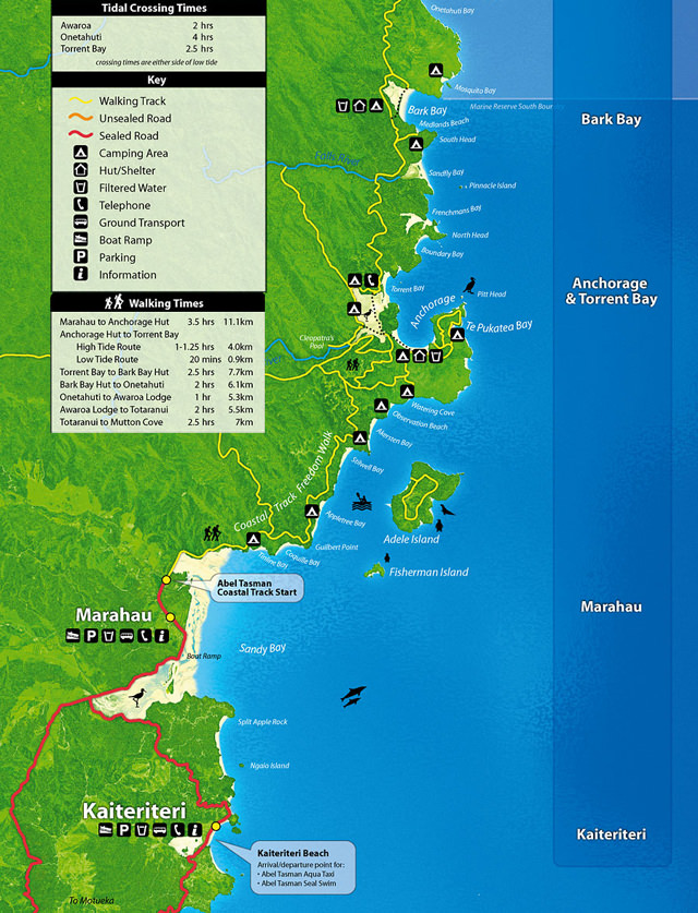 abel-tasman-mapa