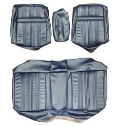 70 coronet conv split bench w car upholstery brown [ 3264 x 3264 Pixel ]