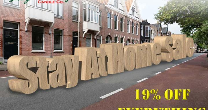 Stay at home sale, 19% off everything