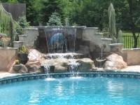 swimming pools with waterfalls   Waterfalls