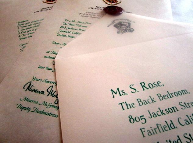 Hogwarts Acceptance Letter Order Form Legendary Letters