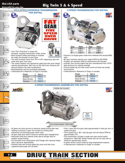small resolution of discount complete transmissions and cases for big twins from mid usa for harley davidson
