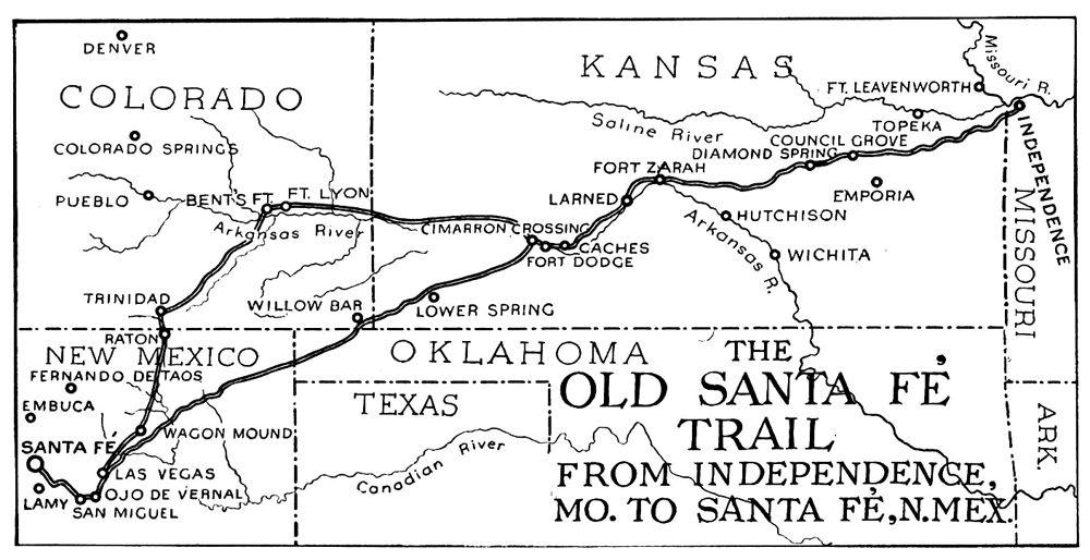 The Santa Fe Trail Across Kansas