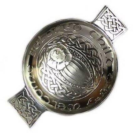 Scottish Pewter Celtic Toasting Quaich