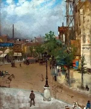 V. Corcos, Strada di Parigi,1882