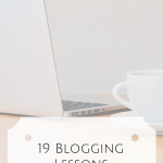 19 Blogging Lessons