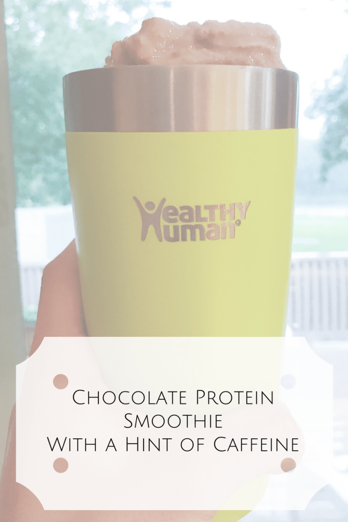 Chocolate Protein Smoothie With a Hint of Caffeine