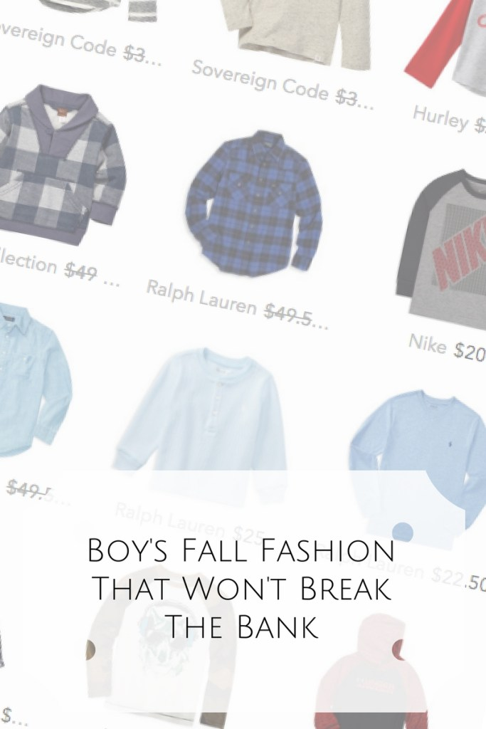 Fall Fashion For Boys