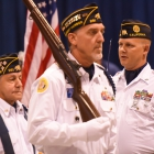 Newport Harbor Post 291 of Newport Beach, Calif., competes in the 2017 American Legion Color Guard Contest, held on Friday, August 18, 2017 at Reno-Sparks Convention Center in Reno, Nev. Photo by Lucas Carter/The American Legion.