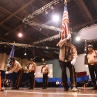 Houston, Tex., Harrisburg Post 472 color guard competes during the 2017 American Legion Color Guard Contest, held on Friday, August 18, 2017 at Reno-Sparks Convention Center in Reno, Nev. Photo by Lucas Carter/The American Legion.