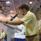 Tennessee Federalist Jayson Blackburn slams the gavel signifying the conclusion of the Boys Nation Senate sessions on Friday, July 28, 2017. Photo by Clay Lomneth / The American Legion.