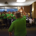 Junior counselors and Boys Nation senators give Past National Commander and Director of Activities Robert Turner a standing ovation as he walks into the dining hall at Marymount University on Friday, July 28, 2017. Photo by Clay Lomneth / The American Legion.