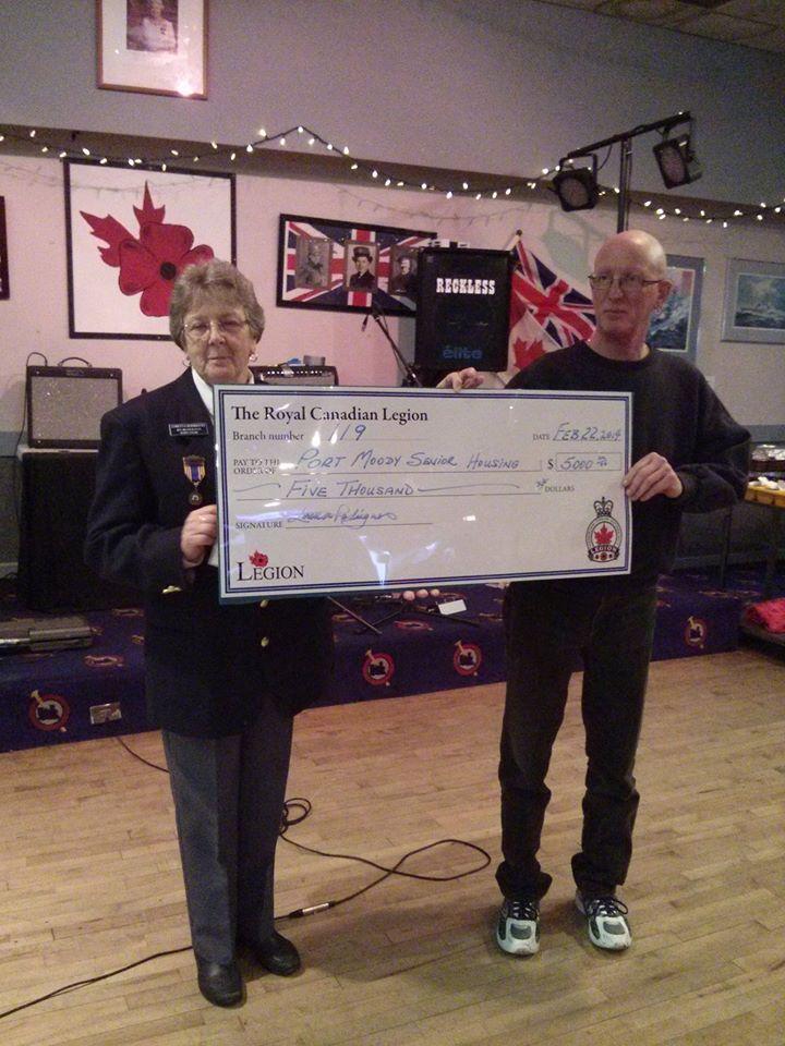 Donations bt Legion119 to Senior Housing
